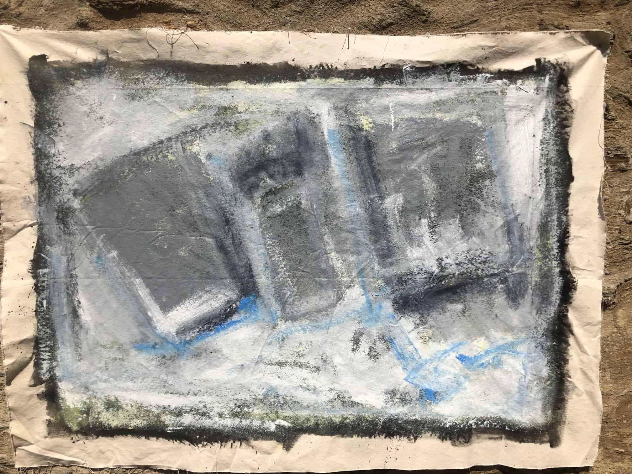 Untitled Black White Blue